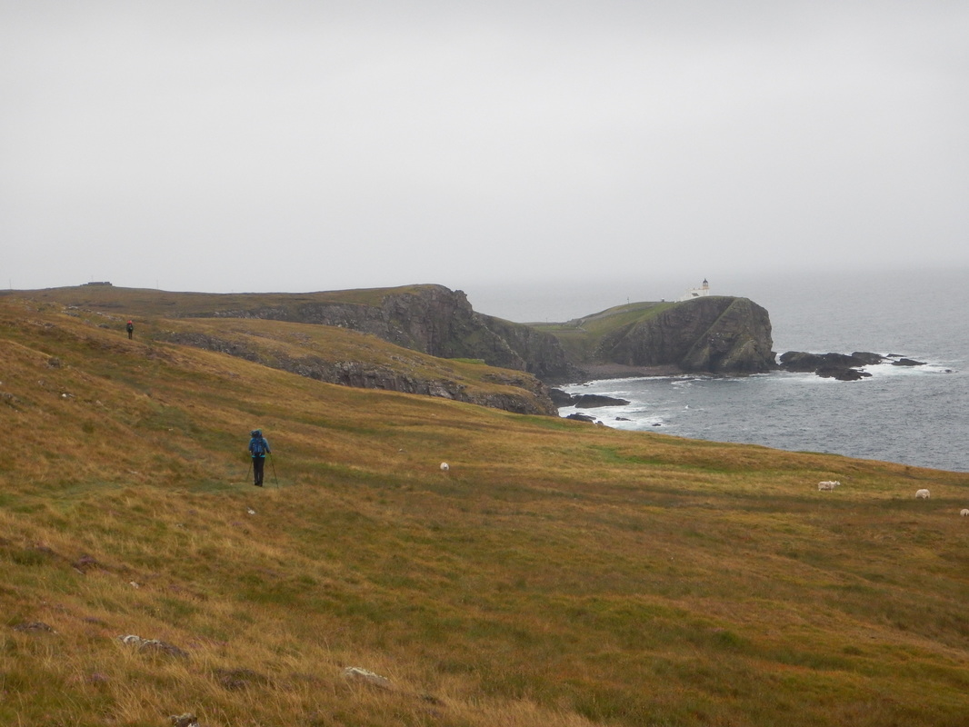 Scottish sea stacks - walking out from the Old Man of Stoer