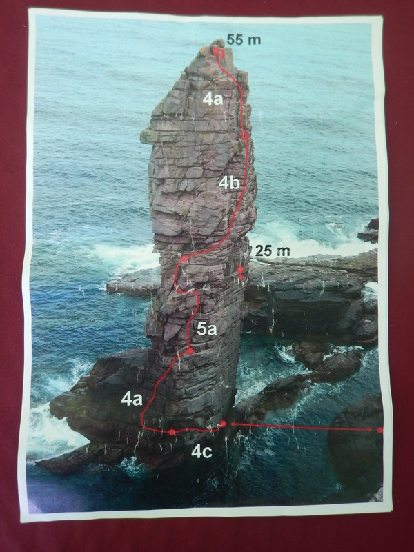 Scottish sea stacks - battered photo topo from the internet