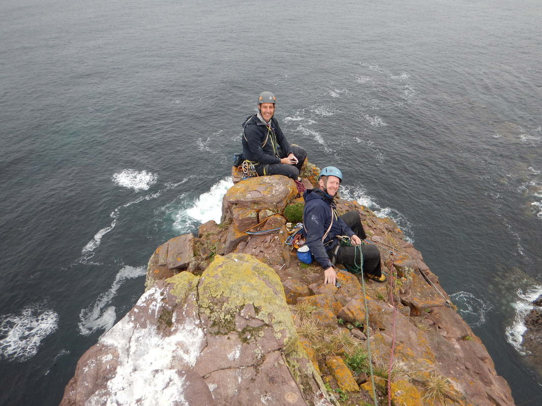 Scottish sea stacks - on top of Am Buachaille