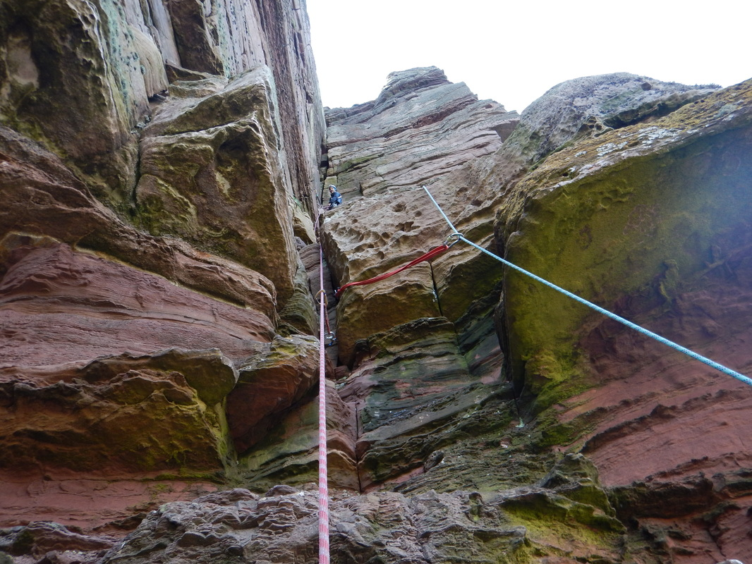 Scottish sea stacks - climbing the Old Man of Hoy