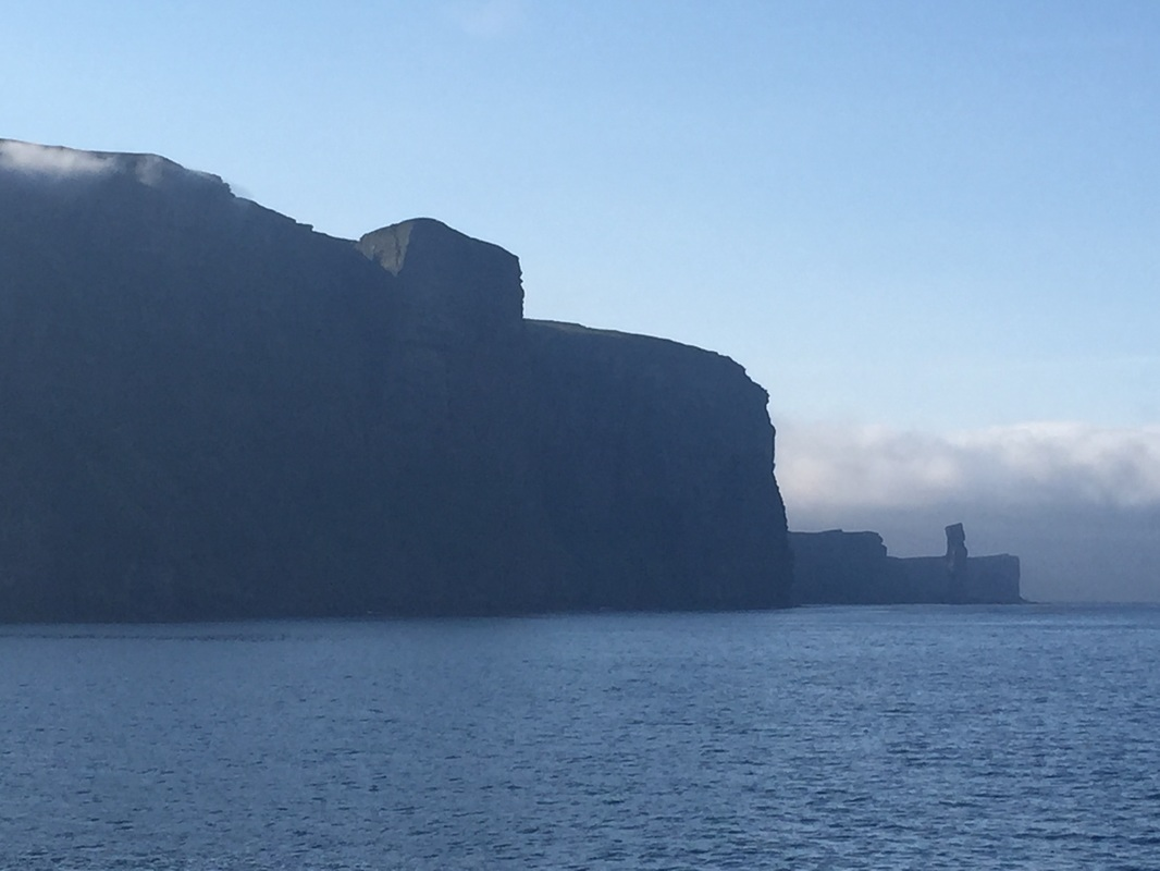 Scottish sea stacks - St John's Head and the Old Man of Hoy